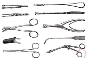 Surgical Instruments Painting; Surgical Instruments Art Print for sale